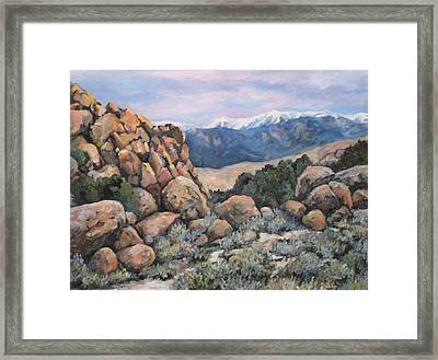 Framed Print featuring the painting Benton by Donna Tucker