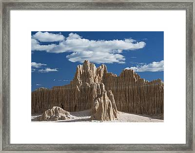Bentonite Clay Formations Cathedral Framed Print by Kevin Schafer