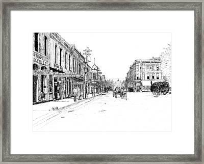 Bentonville Square 1914 Framed Print by Ron Enderland