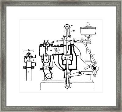 Benz Engine Distribution Framed Print by Science Photo Library