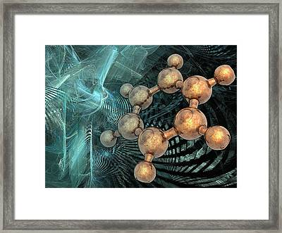 Benzene Molecule, Artwork Framed Print by Science Photo Library