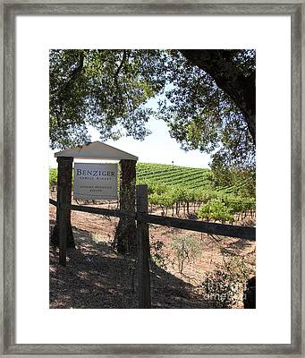 Benziger Winery In The Sonoma California Wine Country 5d24592 Vertical Framed Print by Wingsdomain Art and Photography