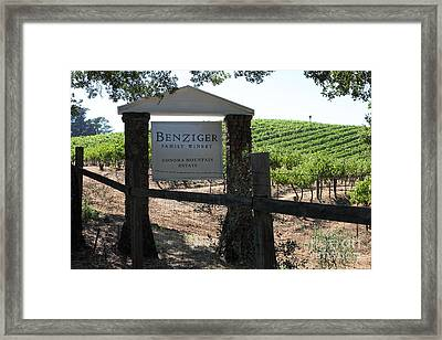 Benziger Winery In The Sonoma California Wine Country 5d24593 Framed Print by Wingsdomain Art and Photography