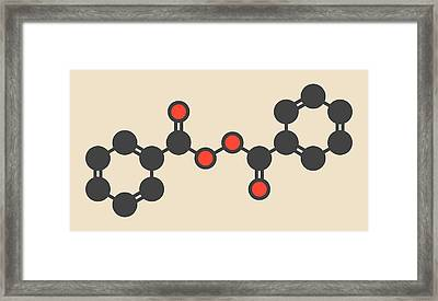 Benzoyl Peroxide Acne Drug Molecule Framed Print by Molekuul