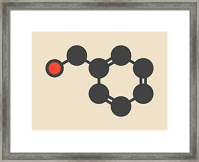 Benzyl Alcohol Solvent Molecule Framed Print by Molekuul