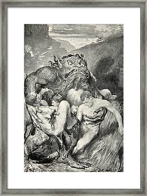 Beowulf Print Framed Print by John Henry Frederick Bacon