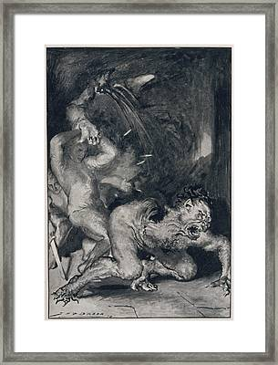 Beowulf, Who Has The Strength Framed Print