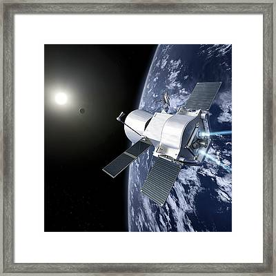 Bepicolombo Mission Framed Print by Esa-production Aoes Medialab