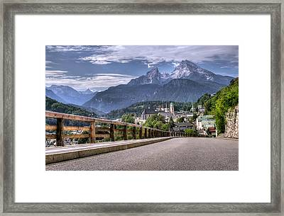 Berchtesgaden Road And Mountain Framed Print by Ioan Panaite