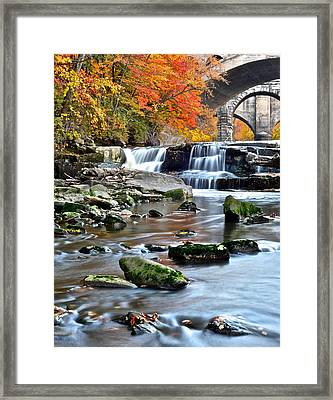 Berea Falls Ohio Framed Print by Frozen in Time Fine Art Photography
