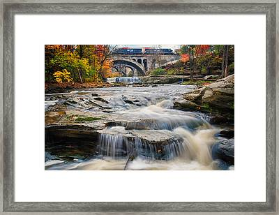 Berea Waterfalls In Autumn Framed Print