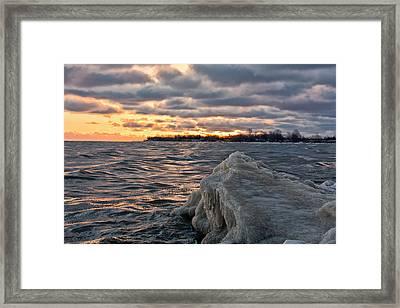 Berg On Ontario Framed Print