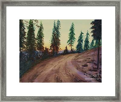 Bergebo Forest Framed Print by Martin Howard