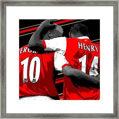 Bergkamp And Henry Arsenal Print Framed Print