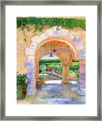 Beringer Winery Archway Framed Print by Gail Chandler