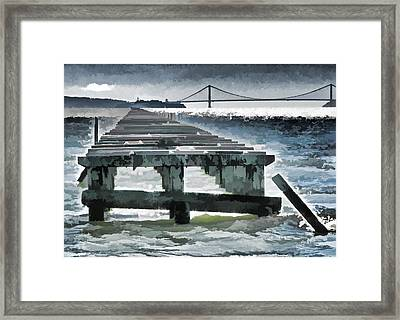 Berkeley Marina Pier Study 1 Framed Print