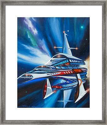 Berkey Iv Starship Framed Print by James Christopher Hill