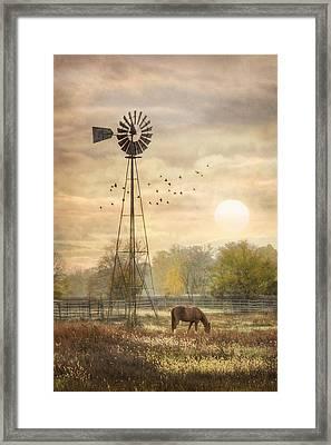Berks County Sunrise Framed Print by Lori Deiter