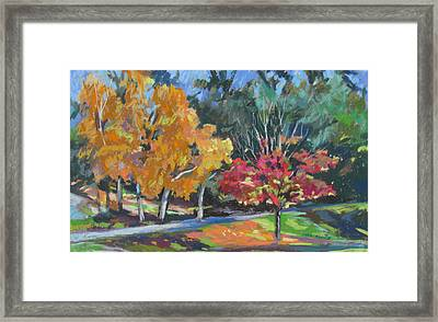 Framed Print featuring the painting Berkshire Fall by Linda Novick