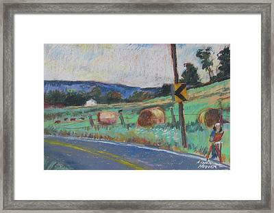 Framed Print featuring the painting Berkshire Mountain Painter by Linda Novick