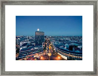 Berlin - Europa Center Framed Print by Alexander Voss