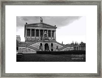 Berlin - National Gallery - Black And White Framed Print by Gregory Dyer