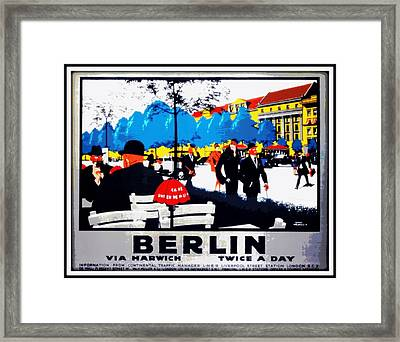 Berlin 1925 Framed Print by Unknown
