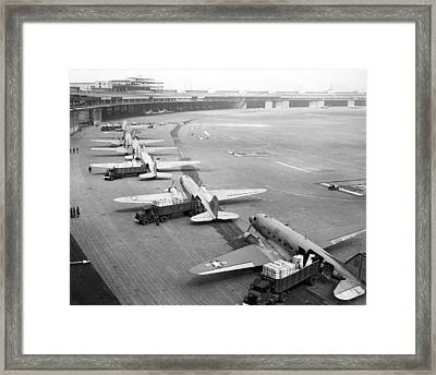 Berlin Airlift Cargo Aeroplanes, 1948-9 Framed Print by Science Photo Library