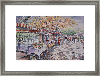 Framed Print featuring the painting Berlin At The Armoury Art Market by Alfred Motzer