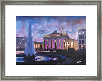 Berlin Brandenburger Tor Framed Print by M Bleichner