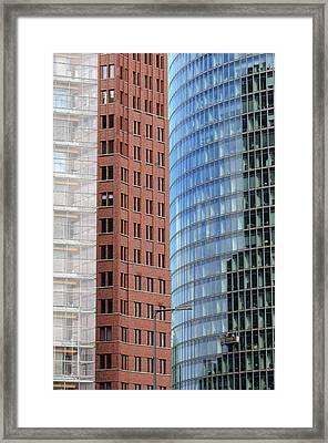 Berlin Buildings Detail Framed Print by Matthias Hauser