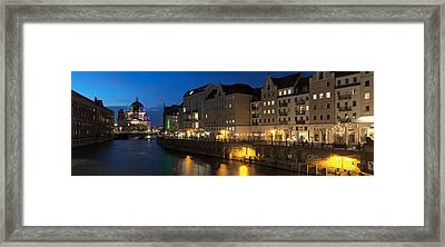 Berlin Cathedral And Nikolaiviertel Framed Print