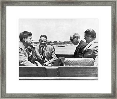 Berlin Conference At Sea Framed Print by Underwood Archives