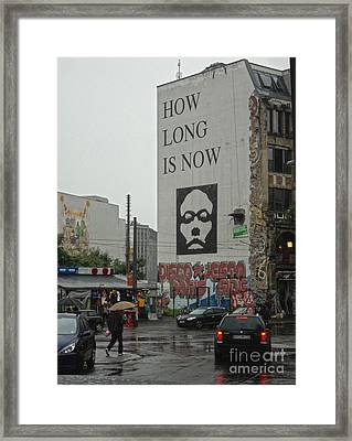 Berlin - How Long Is Now Framed Print by Gregory Dyer