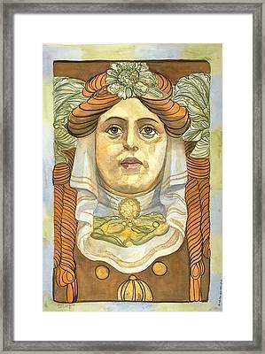 Berlin Keystone Framed Print by Leisa Shannon Corbett