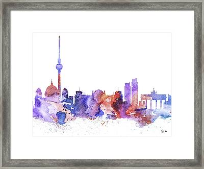 Berlin  Framed Print by Watercolor Girl