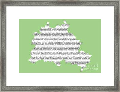 Berlin Map Typgraphy Framed Print