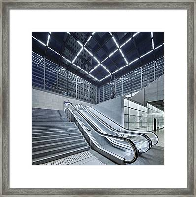 Berlin Potsdamer Platz With Escalator Framed Print by Ricowde