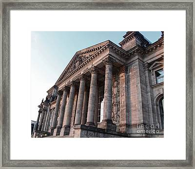Berlin - Reichstag - Front - 02 Framed Print by Gregory Dyer