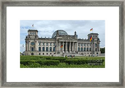 Berlin - Reichstag Front Framed Print by Gregory Dyer