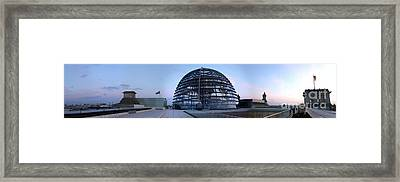 Berlin - Reichstag Panorama Framed Print by Gregory Dyer
