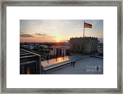 Berlin - Reichstag Roof - No.07 Framed Print by Gregory Dyer