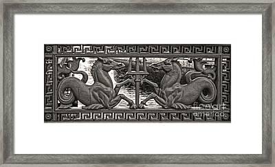 Berlin Sea Horses Framed Print by Gregory Dyer