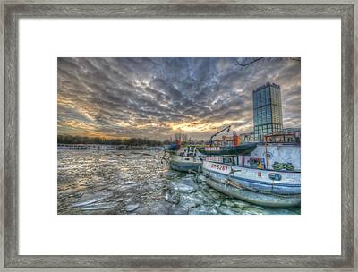 Berlin Ships Framed Print by Nathan Wright
