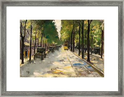 Berlin Street 1920s Framed Print