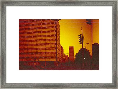 Berlin Street Ddr Framed Print by Juan  Bosco