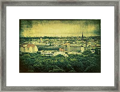 Berlin - Stylized To Old Framed Print by Gynt