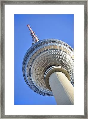 Berlin Tv Tower - Fernsehturm Berlin Framed Print by Gynt