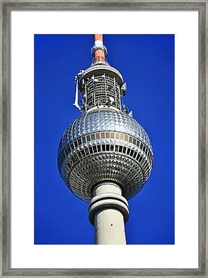 Berlin Tv Tower - Fernsehturm Framed Print by Gynt