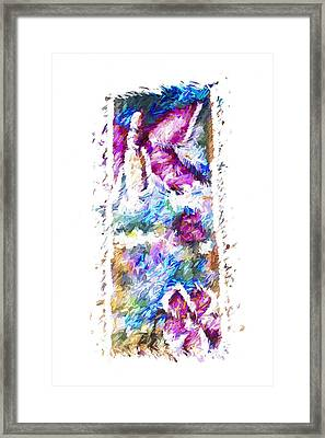 Berlin Wall Abstract Framed Print